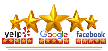 SaniTECH 5 Star Customer Reviews Banner for carpet rug upholstery and tile cleaning